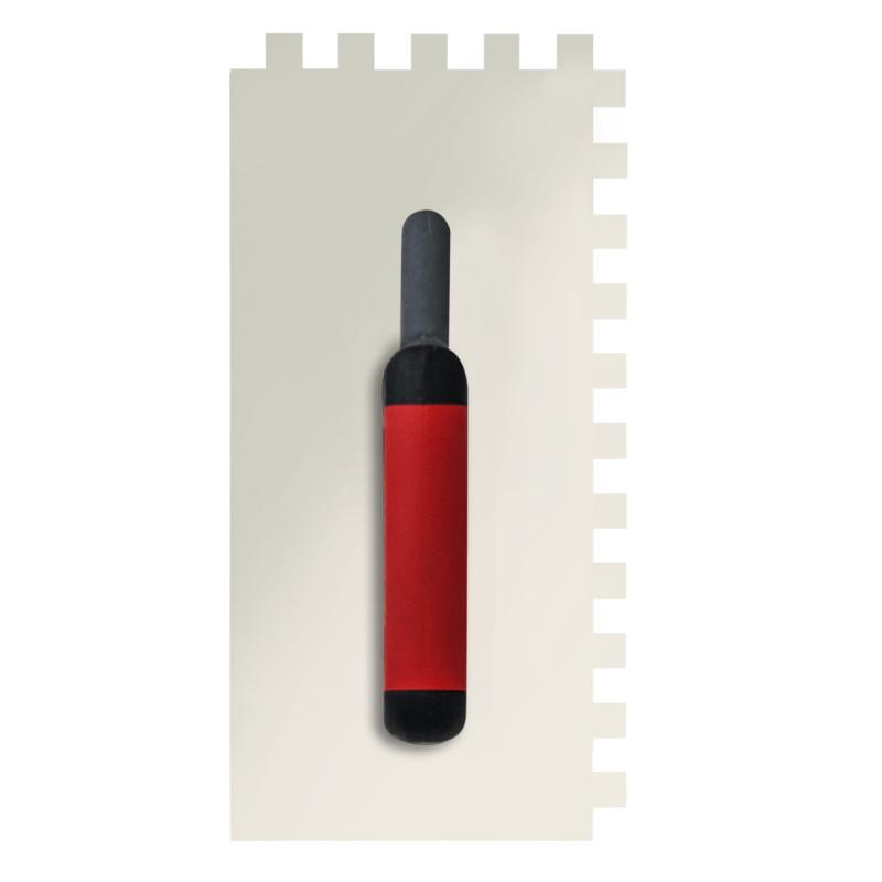 Gleterica Inox, profesional soft drška nazubljena 12x12mm